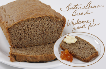 Yeast free Boston Brown Bread Made with Aztec Harvest Blend